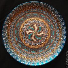 Купить Тарелка декоративная Еastern wind - коричневый, тарелка сувенирная, тарелка на стену, оригинальный подарок