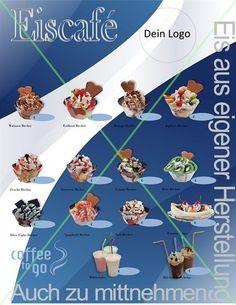 Eis - Eisdiele - DIN A1 Poster/Plakat -Text(Slogan)nach Wunsch - 510 g/m² PVC 13