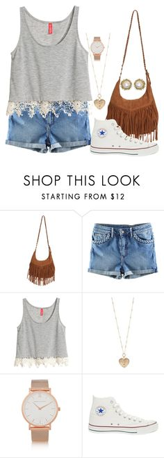 """See If you can find the smiley face:)"" by caro3302 ❤ liked on Polyvore featuring Wet Seal, H&M, Betsey Johnson, Larsson & Jennings, Converse and Kendra Scott"