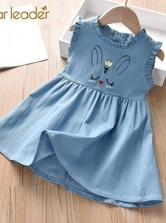Bear Leader Girls Dresses New Princess Dress Kids Jean Unicorn Embroidery Girls Party Dress Children Clothing for 2 7 Years Baby Girl Frocks, Frocks For Girls, Dresses Kids Girl, Girls Party Dress, Kids Outfits, Baby Frocks Party Wear, Cotton Frocks For Kids, Cute Baby Dresses, Girls Frock Design