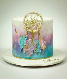Awesome Birthday Party Ideas for Girls – Unicorn Cake 13 Birthday Cake, Birthday Parties, Rainbow Birthday, 13th Birthday, Unicorn Birthday, Birthday Ideas, Bolo Hippie, Hippie Cake, Beautiful Cakes