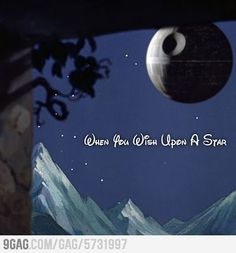 Be careful what you wish for. (These disney/sw crossovers are so fun)