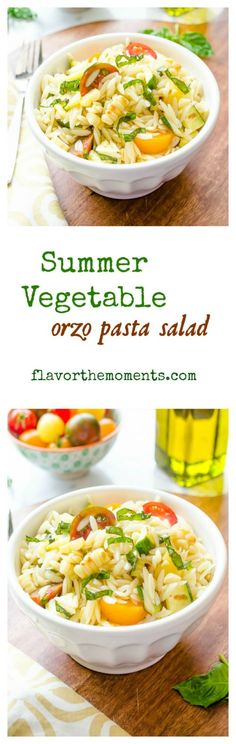 summer-vegetable-orzo-pasta-salad-collage | flavorthemoments.com