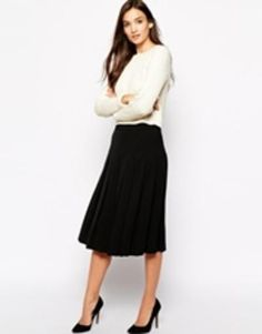 reiss pleated culottes  black #shorts #pleated #wideshorts #culottes #widefit #covetme