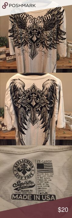 Affliction - LIVE FAST - 2XL - T-Shirt 2XL - Excellent Condition Affliction Shirts Tees - Short Sleeve