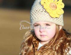Adorable Crochet Little Girl Hat #coveryourhair.com #HolidayWishList
