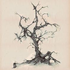 "Gothic tree"" Drawing art prints and posters by John Leyton ..."