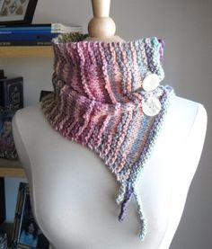 Pastel Whimsical Elf Couture Cowl
