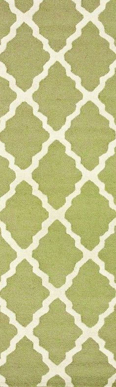 Nuloom MTVS27G-2608 Varanas Collection Light Green Finish Hand Hooked Marrakech Trellis