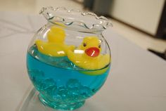 Rubber Ducky themed baby shower.