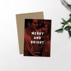Modern Holiday Photo Card | Minimalist Holiday | Hipster Christmas | Newlywed Christmas | Christmas Card | Custom Card | Merry and Bright