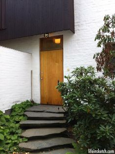 Design Tour: Alvar Aalto House in Helsinki - Life in Sketch .Photo credit to-Tina Ramchandani Creative Alvar Aalto, Helsinki, Architecture Design, Chinese Architecture, Futuristic Architecture, Architecture Organique, Garden Entrance, Mid Century House, Interior Exterior