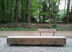Bench in front of sports- and training complex PSV 'De Herdgang'. Landscape Architecture, Landscape Design, Garden Design, Garden Seating, Outdoor Seating, Outdoor Landscaping, Outdoor Gardens, Cement Patio, Smart Garden