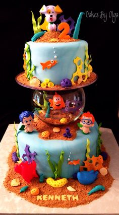 Bubble Guppies cake by Cakes By Olga