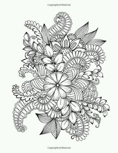 Flowers and Floral Patterns: 60 Full Page Line Drawings Ready For Coloring (Adult Coloring Books) (Volume Pattern Coloring Pages, Printable Adult Coloring Pages, Flower Coloring Pages, Mandala Coloring Pages, Free Coloring Pages, Coloring Books, Quilling Patterns, Zentangle Patterns, Zentangles