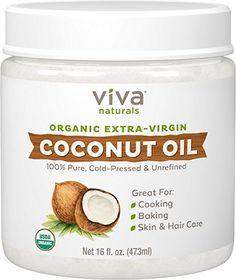 Viva Naturals Organic Extra Virgin Coconut Oil, 16 Ounce  #drymouth #Parotitis