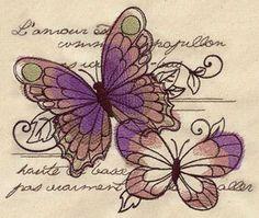 Parisian Butterflies design (UT4489) from UrbanThreads.com