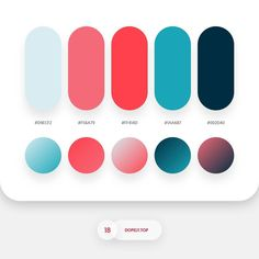 7315 likes, 45 comments - Color Palette Roundup 3 By - Dopely Colors 15 Flat Color Palette, Pantone Colour Palettes, Colour Pallette, Pantone Color, Colour Schemes, Color Patterns, Ui Color, Gradient Color, Web Design