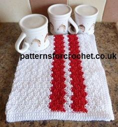 Free crochet pattern cotton tea towel usa
