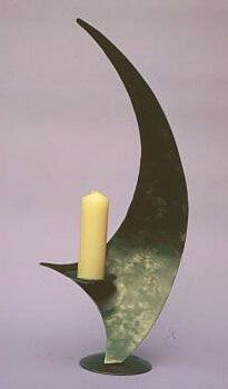 candlestick in a modern contemporary style, designer candlestand