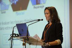 Nathalie Toulemonde (INRS) lors de la Journée d'information Seirich du 15/09/2015 à Paris © INRS