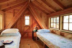intérieur abri jardin lits bois