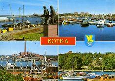#Kotka #Maisemakortit #Postikortit #matkailu #Suomi #Finland Old Ads, Teenage Years, Back In Time, Helsinki, Product Design, Finland, Nostalgia, Old Things, Country