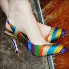 multi-colored striped slingbacks. I WANT These. Like seriously, want-might-even-consider-for-a-moment-$159-for-a-pair-of-shoes want. talbots.com