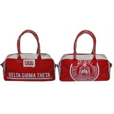 DELTA SIGMA THETA GYM SHOULDER TOTE BAG PURSE RED What Is A Delta, Punk Rock Fashion, Lolita Fashion, Delta Sigma Theta Apparel, Rocker Outfit, Sorority And Fraternity, Geek Jewelry, Tomboy Outfits, Emo Outfits