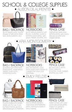 Pretty Little Liars inspired school & college supplies | part I by liarsstyle on Polyvore featuring polyvore, fashion, style, Nila Anthony, Bueno, Cesca, H&M, Vera Bradley, Kate Spade, Kipling, ACCO, Thomaspaul, Motel, Liberty, Ted Baker, STELLA McCARTNEY, school, college and supplies
