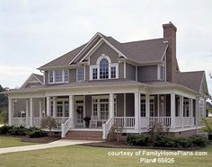 This porch but all the way wrapped around the house is perfect