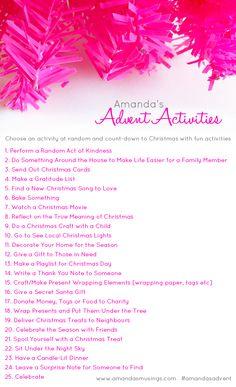 Amanda's Musings: Amanda's Advent Activities - why don't you play along?!