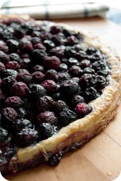 Mustikka Piirakka - Finnish blueberry pie.