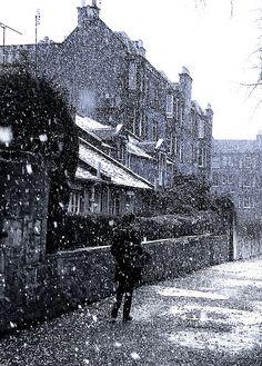 Edinburgh, Scotland snow storm