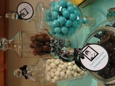 Candy station for my Tiffany and Co themed baby shower