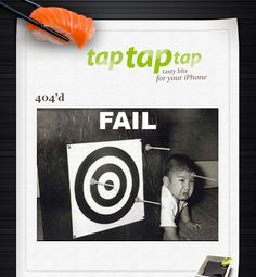 Taptaptap's clever 404 error message.