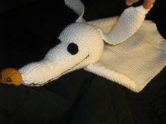 """Find it HERE """"Ghost Dog"""" Pattern Please note this is not an official Disney pattern. Also, this pattern was made form memory/notes and is therefore UNTESTED!!! I'm sure theres a mistake here and there, please comment if you find any. Yarn: Lion Brand """"Pound of Love"""" probably about 1/3- 1/2 of a…"""
