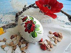 Dekorácie - Husacia kraslica  - červený kvet - 3824234_