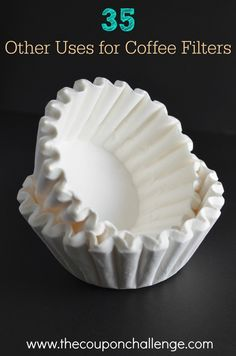 Did you know there are many other uses for coffee filters other than brewing your daily cup of Joe? Take a look at 35 other uses for coffee filters and get more use out of those inexpensive filters. Coffee Filter Uses, Coffee Filter Crafts, Coffee Filters, Coffee Filter Flowers, Coffee Drinks, Coffee Mugs, Coffee Maker, Hot Coffee, Coffee Coupons