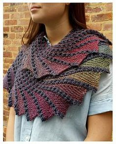 """I was writing this shawl pattern and my husband looked over and said it looked like something Daneris from Game of Thrones would wear, so of course I had to call it Kaleesi! (Sorry for those of you who are not familiar with the show. This woman is the """"Mother of Dragons"""")"""