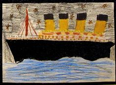 Titanic Art - Various drawings and paintings by kids