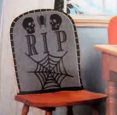 Tomb Stone Chair Cover Halloween Party RIP Graveyard Skeleton Haunted House Seat ** Read more reviews of the product by visiting the link on the image.
