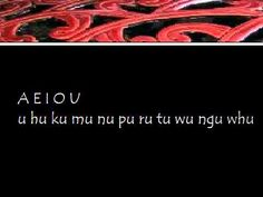 a ha ka ma na pa ra ta wa nga wha e he ke me ne pe re te we nge whe i hi ki mi ni pi ri ti wi ngi whi o ho ko mo no po ro to wo ngo who A E I O U u hu ku mu . Teaching Aids, Teaching Resources, Maori Songs, Maori People, Maori Art, Children's Picture Books, Alphabet, Teacher, Writing