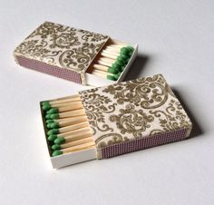 Decorative Matchboxes by RittenhouseTrades