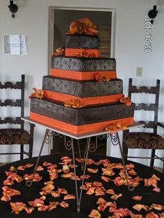 Fall Birthday Themed Cake from Stack Bistro Pastry & Cake.  www.StackBistro.com