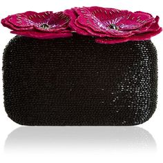 Accessorize Poppy Embellished Hardcase Clutch Bag (£71) ❤ liked on Polyvore featuring bags, handbags, clutches, beaded purse, poppy handbags, beaded clutches, box clutch and embellished purses