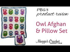 Owl Afghan & Pillow Crochet Pattern Set Product Review PB123