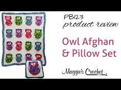 Owl Afghan & Pillow Set Crochet Pattern – Maggie's Crochet