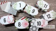 """Holiday Advent Calendar by Allison Cope featuring the """"Merry Littles"""" stamp set from Power Poppy Remembrance Day, Inspire Me, Poppy, Advent Calendar, Presents, Merry, Tutorials, Stamp, Crafty"""