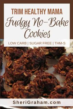 "Trim Healthy Mama {Fudgy No-Bake Cookies – ""S""} – Sheri Graham: Helping you live with intention and purpose! These Trim Healthy Mama friendly no-bake cookies are amazing! Thm Recipes, Raw Food Recipes, Trim Healthy Recipes, Cream Recipes, Recipies, Snacks Recipes, Keto Snacks, Kitchen Recipes, Diabetic Recipes"